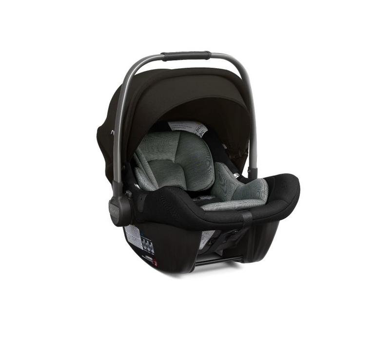 Nuna Pipa Lite Infant Car Seat In Ebony With Base