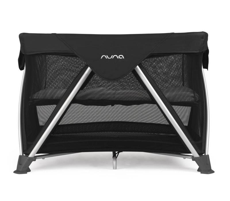 Nuna Sena Aire Pack and Play Playard Travel Crib With Bassinet In Night