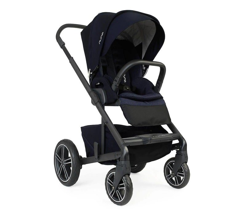 Nuna Mixx2 Stroller In Indigo + Rain Cover + Adaptors
