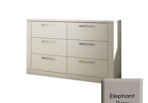 Nest Juvenile Nest Milano Drawer Double Dresser In Elephant Grey