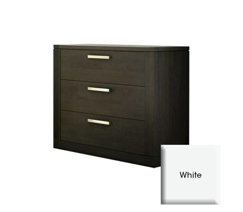 Nest Milano 3 Drawer Dresser In White