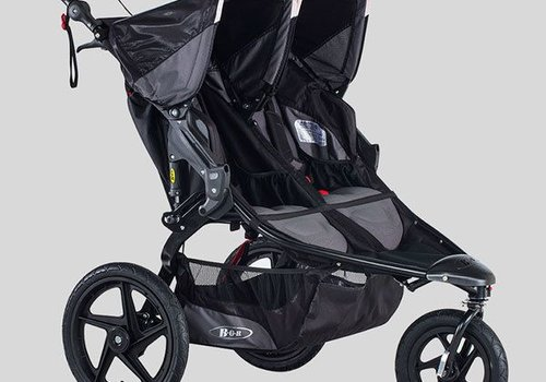 BOB 2018 BOB Revolution Pro Duallie Double Stroller In Black-Black