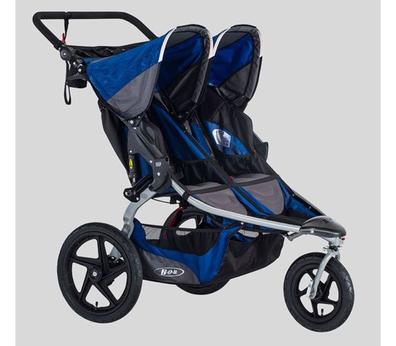 2018 BOB Stroller Strides Fitness Duallie Polymer Wheels In Blue