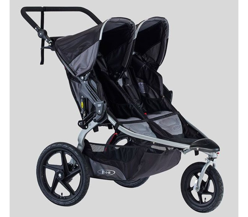 2018 BOB Revolution Flex Duallie Double Stroller In Black-Black