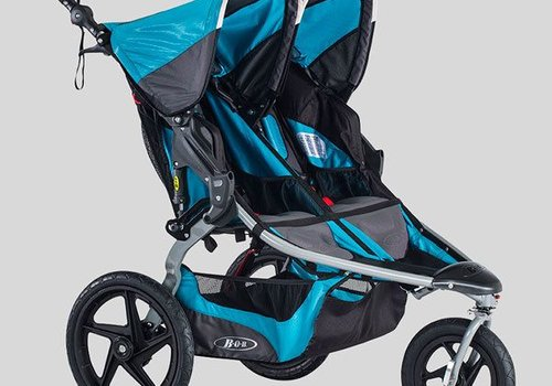 BOB 2018 BOB Revolution Flex Duallie Double Stroller In Lagoon