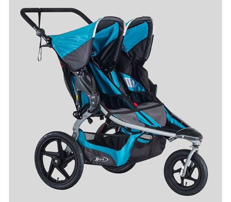 2018 BOB Revolution Flex Duallie Double Stroller In Lagoon