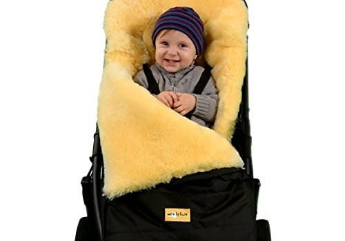 Woolylux Woolylux Sheepskin Footmuff In Black
