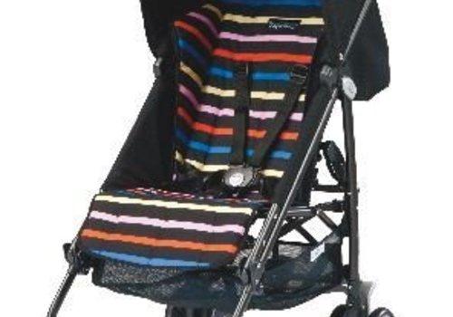 Peg-Perego Peg-Perego Pliko Mini In Neon - Black and Neon Multi Stripes