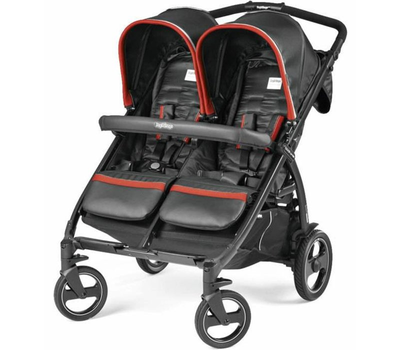 Peg Perego Book For Two In Synergy-Black w/Red & Silvery
