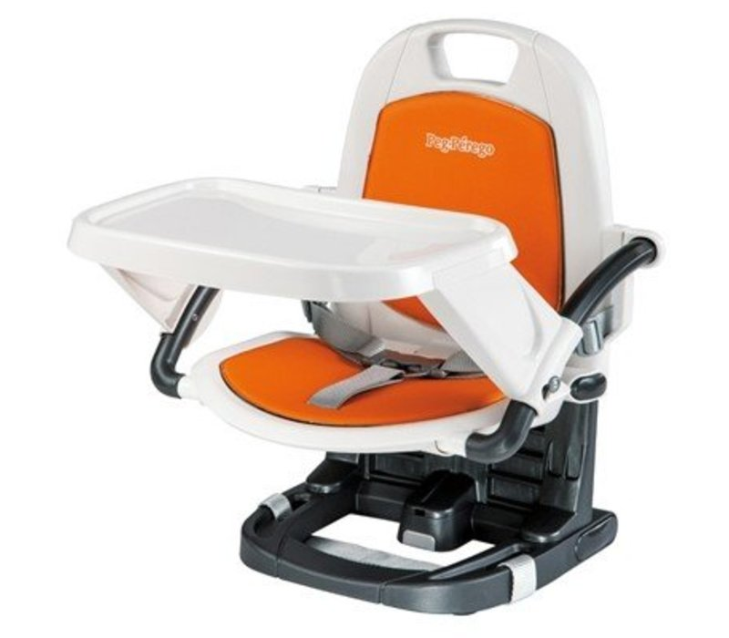 Peg Perego Rialto Booster Seat Highchair In Arancia
