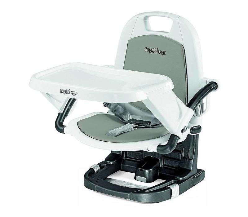 CLOSEOUT!! Peg Perego Rialto Booster Seat Highchair In Ice Light Grey