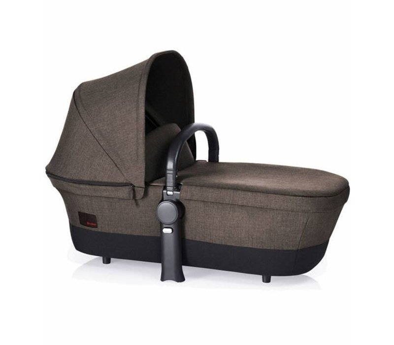 2017 Cybex Priam Carry Cot In Desert Khaki Denim