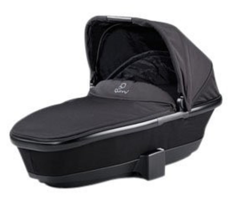 CLOSEOUT!! Quinny Tukk Bassinet Foldable Carrier In Black Devotion For Moodd And Buzz