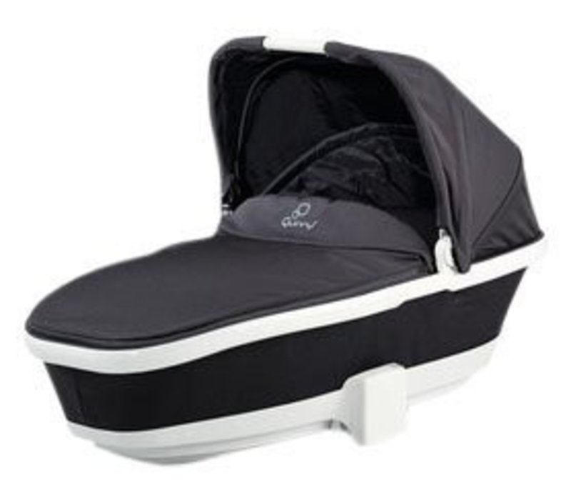 CLOSEOUT!! Quinny Tukk Bassinet Foldable Carrier In Black Irony For Moodd And Buzz