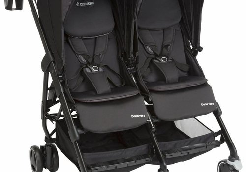Maxi Cosi Maxi Cosi Dana For Two Double Stroller In Devoted Black