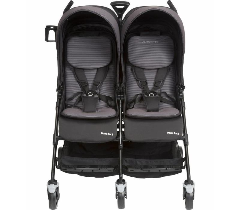 Maxi Cosi Dana For Two Double Stroller In Devoted Black