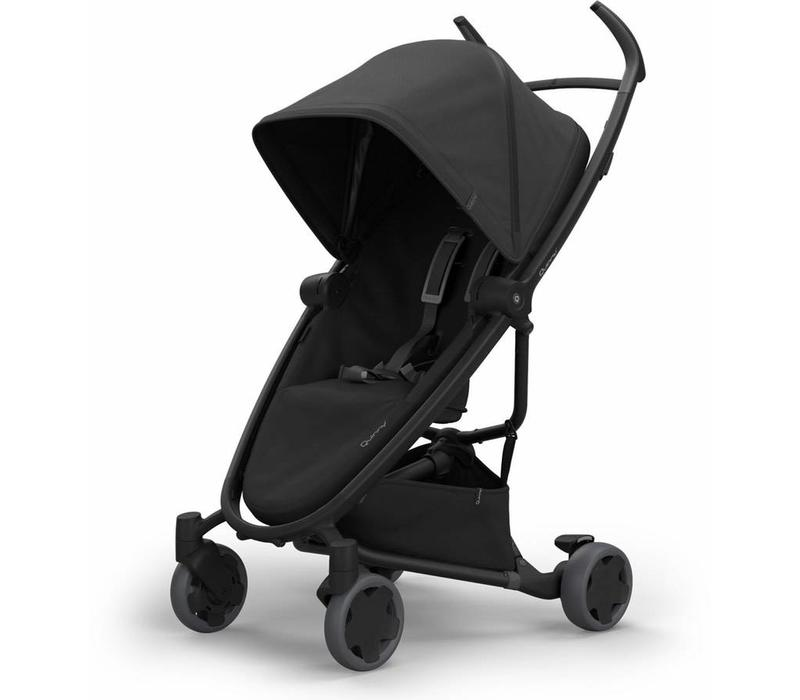 Quinny Zapp Flex Stroller With Folding Seat In Black On Black