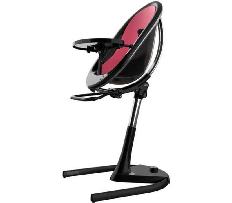 Mima Kids Moon 2G 3-in-1 Highchair In Black- Fuchsia