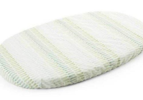 Stokke Stokke Sleepi Crib Fitted Sheet In Aqua Straw