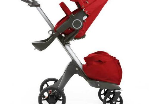 Stokke 2017 Stokke Xplory Basic In Red Includes Silver Chassis With Seat And Textile Set