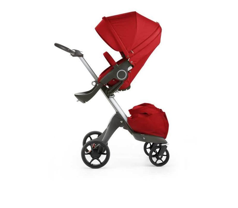 2017 Stokke Xplory Basic In Red Includes Silver Chassis With Seat And Textile Set