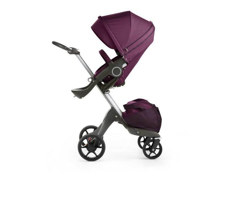 2017 Stokke Xplory Basic In Purple Includes Silver Chassis With Seat And Textile Set