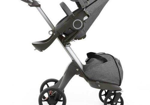 Stokke 2017 Stokke Xplory Basic Black Melange -Silver Chassis -Seat and Textile Set
