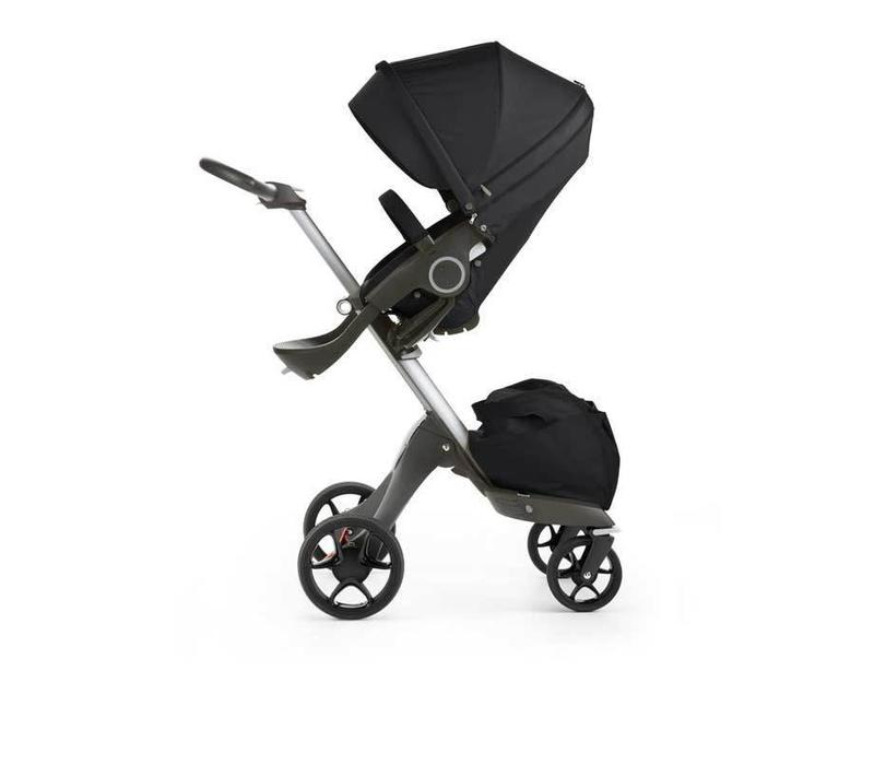 2017 Stokke Xplory Basic In Black Includes Silver Chassis With Seat And Textile Set