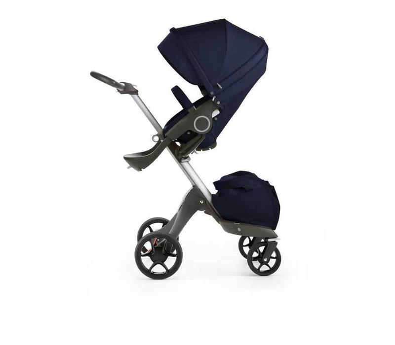2017 Stokke Xplory Basic In Deep Blue Includes Silver Chassis With Seat And Textile Set