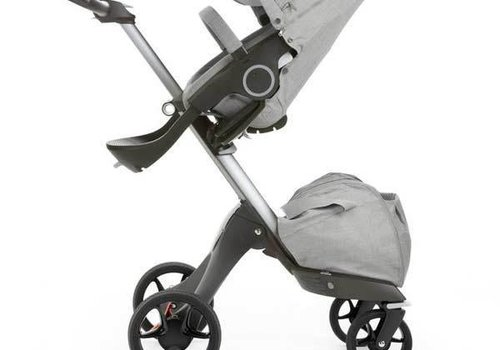 Stokke 2017 Stokke Xplory Basic Grey Melange Includes Silver Chassis With Seat and Textile Set
