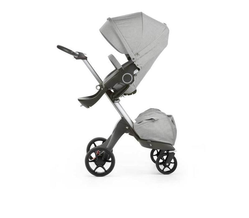 2017 Stokke Xplory Basic Grey Melange Includes Silver Chassis With Seat and Textile Set