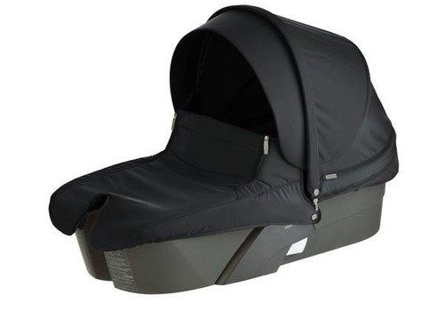 Stokke Stokke Xplory Carrycot In Silver Frame-Black Fabric