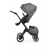 2017 Stokke Xplory 3 In1  Black Melange -Black Chassis -Seat, Parasol, Cup Holder  and Textile Set