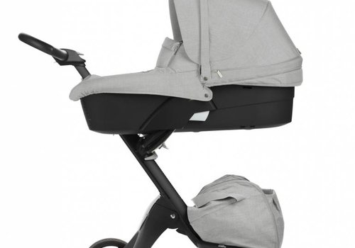 Stokke 2017 Stokke Xplory 3 In1 Grey Melange -Black Chassis -Seat, Parasol, Cup Holder  and Textile Set