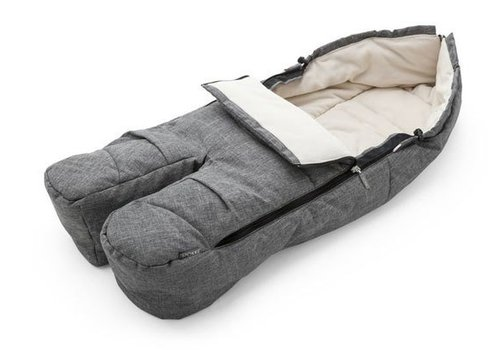 Stokke Stokke Xplory, Crusi Or Trailz Footmuff In Grey Melange For Seat