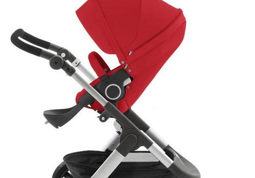 Stokke Stokke Trailz Stroller With Terrain Wheels In Red