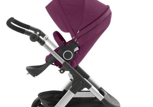 Stokke 2017 Stokke Trailz Aluminum Frame Stroller With Terrain Wheels In Purple