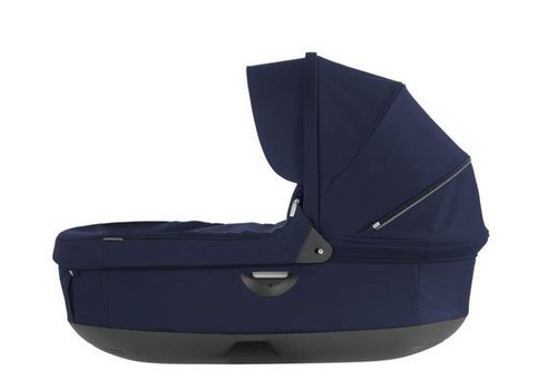 Stokke 2017 Stokke Crusi And Trailz Carrycot In Deep Blue