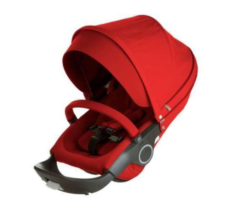 Stokke Xplory Or Crusi Seat Complete In Red- Seat With Style Kit Set