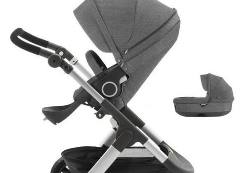 Stokke Stokke Trailz Stroller With Terrain Wheels And Carrycot In Black Melange