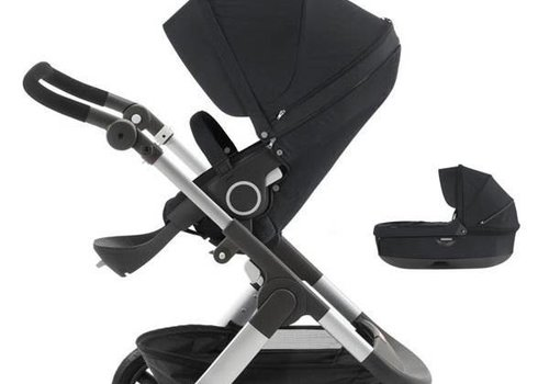 Stokke Stokke Trailz Stroller With Terrain Wheels With Carrycot In Black