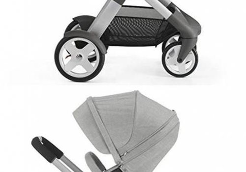 Stokke 2017 Stokke Trailz Aluminum Frame Stroller With Terrain Wheels And Carrycot  In Grey Melange