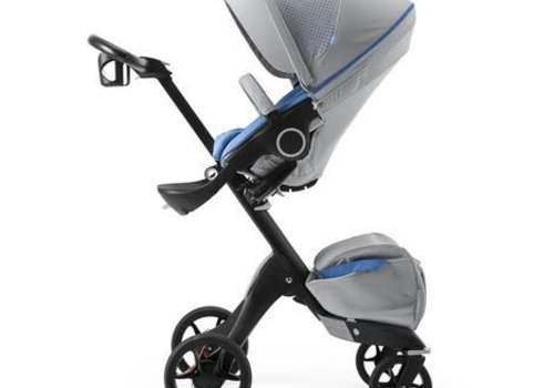 Stokke Stokke Xplory Basic In Black Frame With Limited Edition Athleisure Marina Fabric