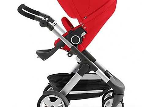 Stokke 2017 Stokke Trailz Aluminum Frame Stroller With Classic Wheels In Red
