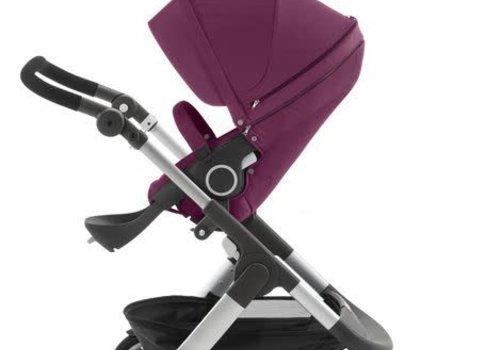 Stokke 2017 Stokke Trailz Aluminum Frame Stroller With Classic Wheels In Purple