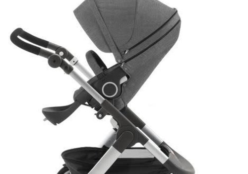 Stokke 2017 Stokke Trailz Aluminum Frame Stroller With Classic Wheels In Black Melange