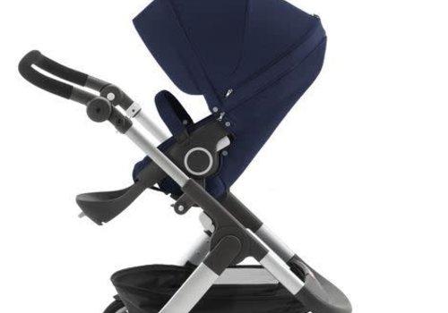 Stokke Stokke Trailz Stroller With Classic Wheels In Deep Blue