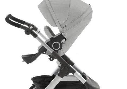 Stokke 2017 Stokke Trailz Aluminum Frame Stroller With Classic Wheels In Grey Melange