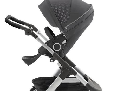 Stokke 2017 Stokke Trailz Aluminum Frame Stroller With Classic Wheels In Grey Athleisure