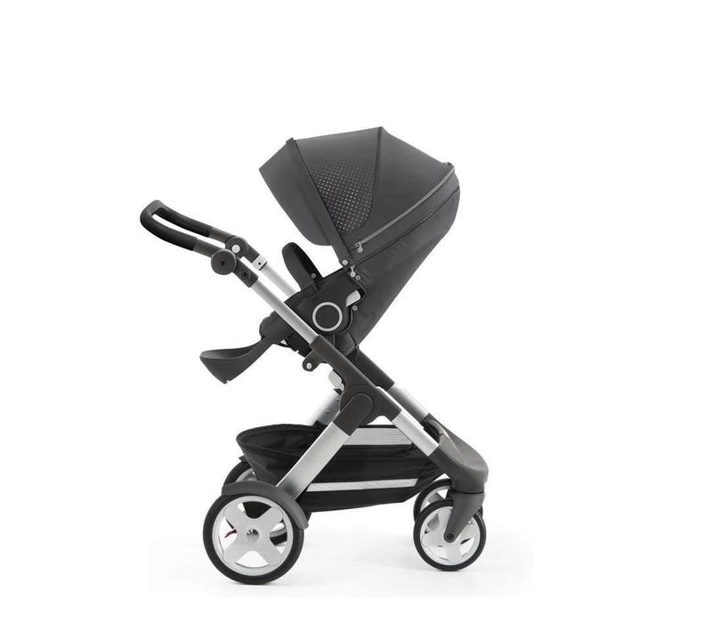 Stokke Trailz Stroller With Classic Wheels In Grey Athleisure